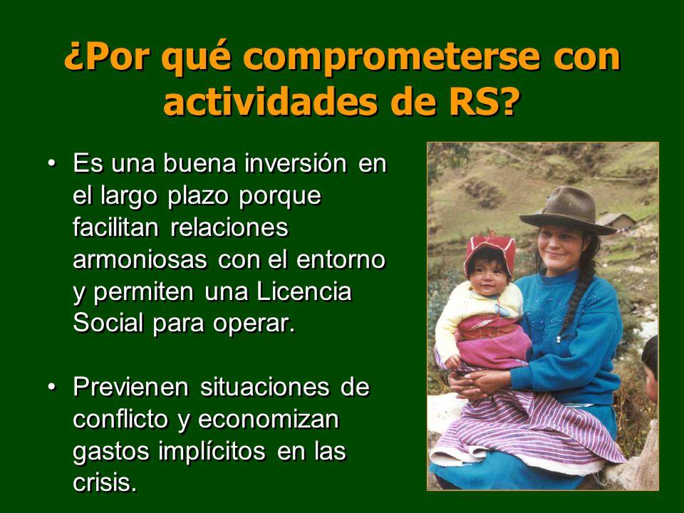 ¿Por qué comprometerse con actividades de RS