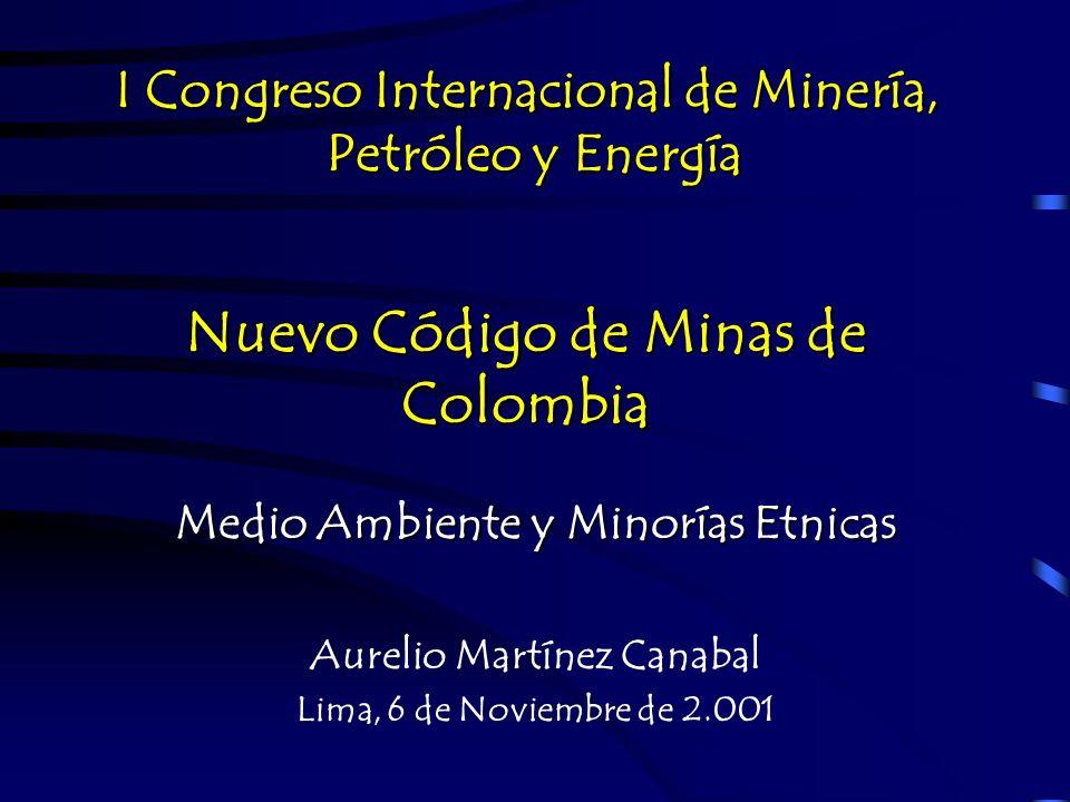 Nuevo Código de Minas de Colombia