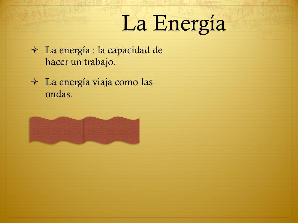 La Energía La energía : la capacidad de hacer un trabajo.