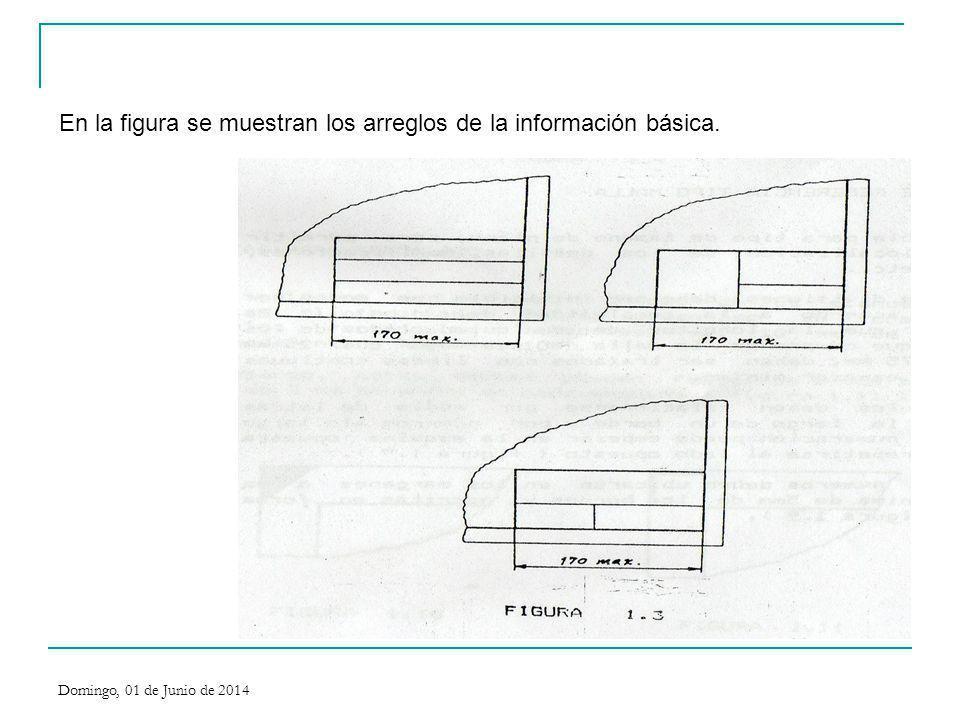 En la figura se muestran los arreglos de la información básica.