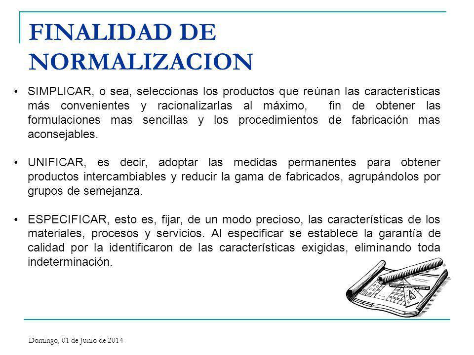 FINALIDAD DE NORMALIZACION