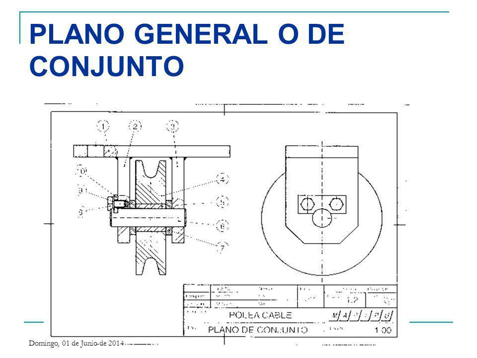PLANO GENERAL O DE CONJUNTO