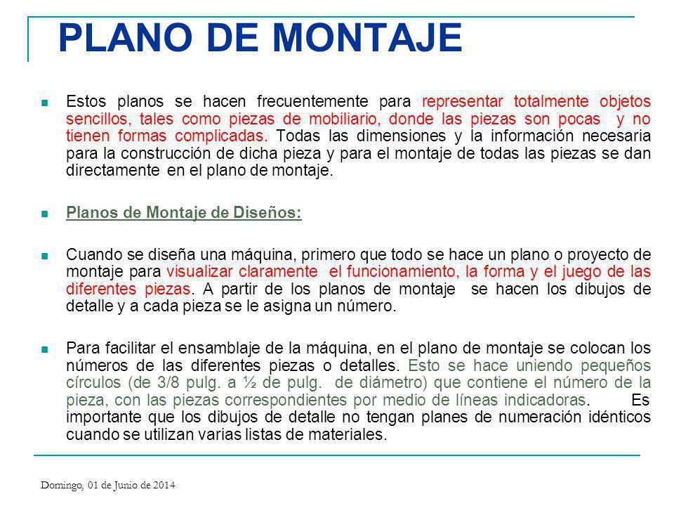 PLANO DE MONTAJE