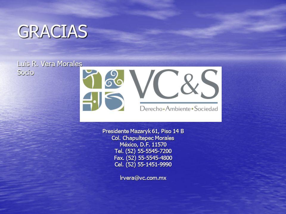 GRACIAS Luis R. Vera Morales Socio Presidente Mazaryk 61, Piso 14 B