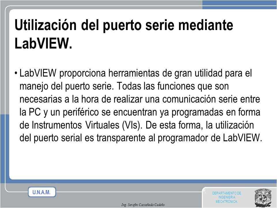 Utilización del puerto serie mediante LabVIEW.