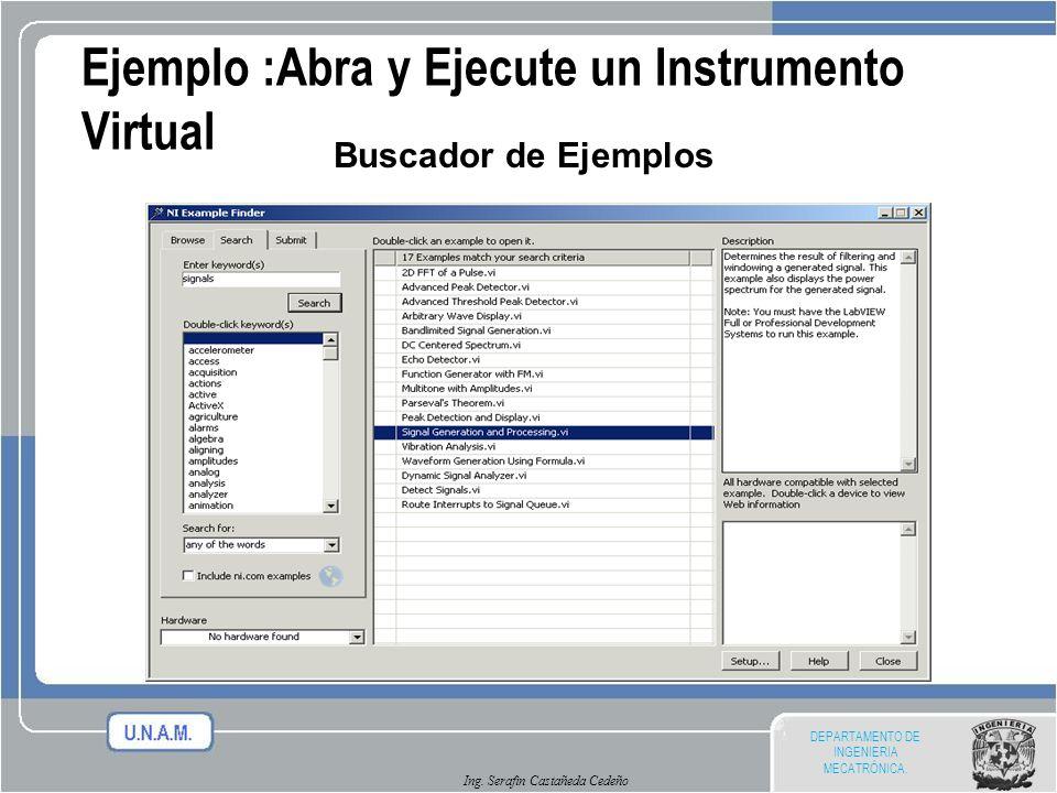 Ejemplo :Abra y Ejecute un Instrumento Virtual