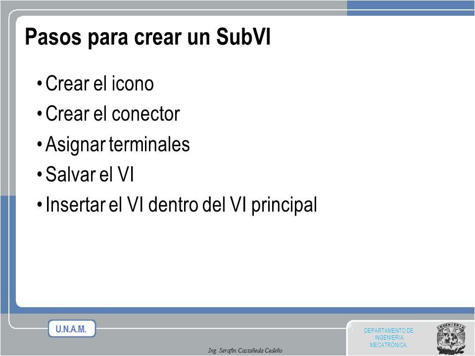 Pasos para crear un SubVI