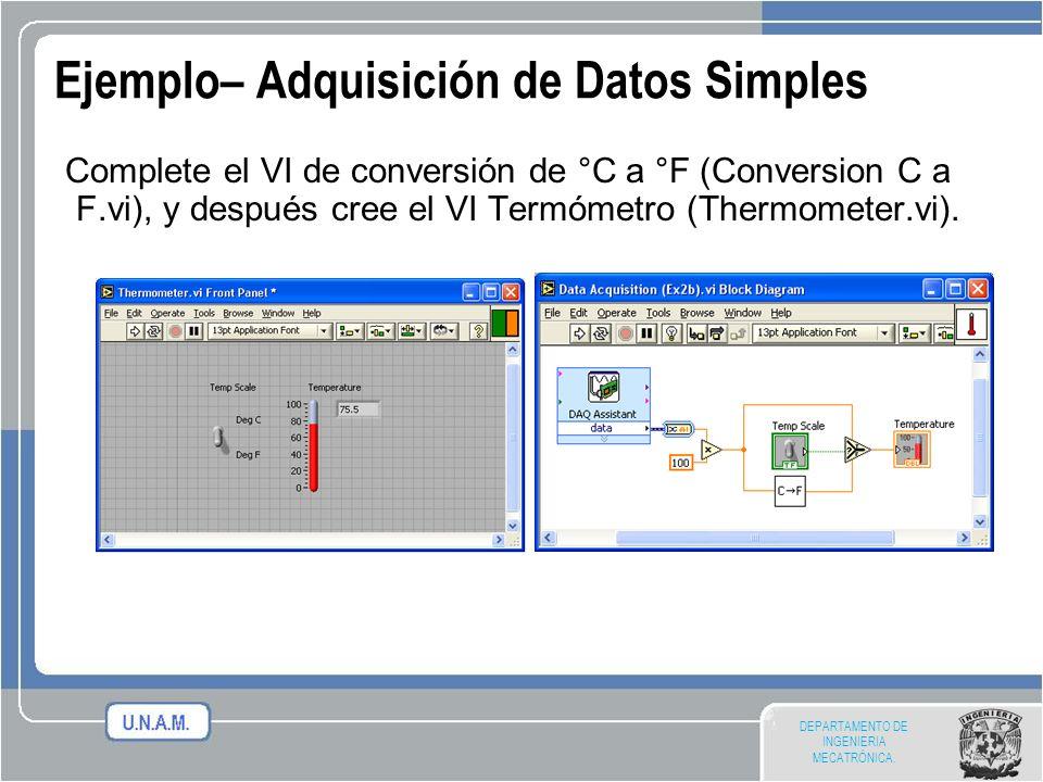 Ejemplo– Adquisición de Datos Simples