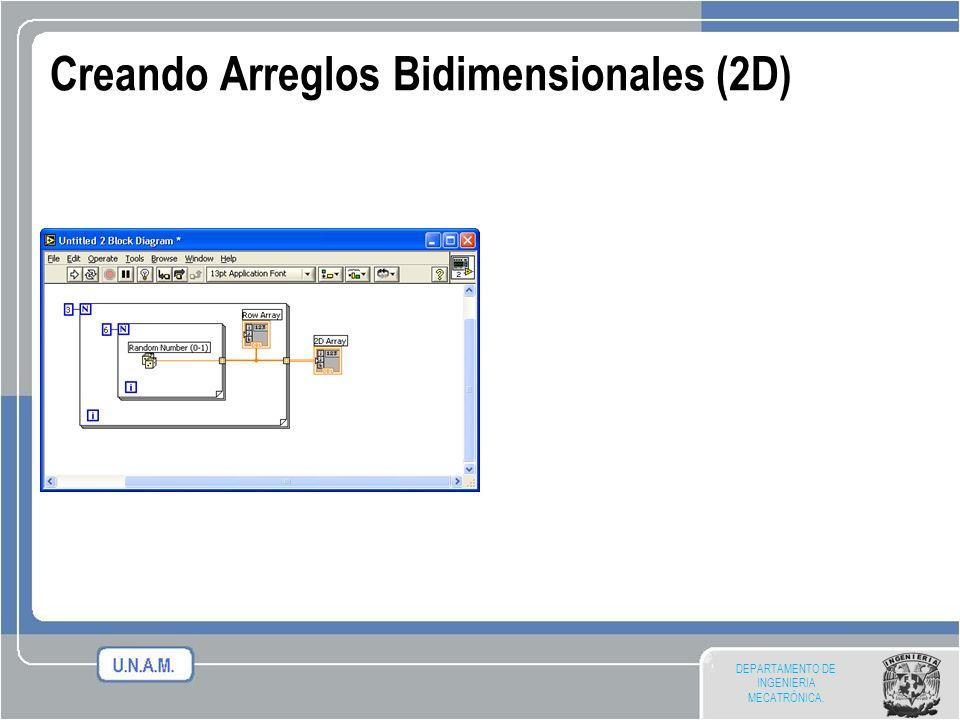 Creando Arreglos Bidimensionales (2D)