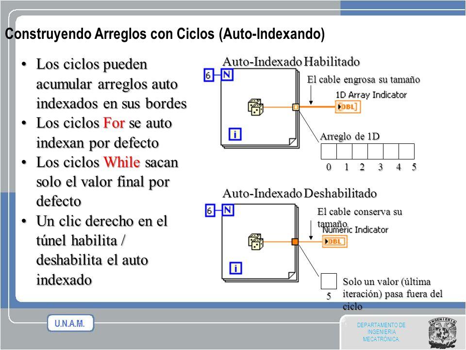 Construyendo Arreglos con Ciclos (Auto-Indexando)