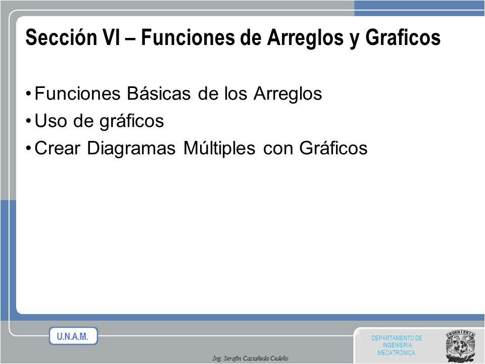 Sección VI – Funciones de Arreglos y Graficos
