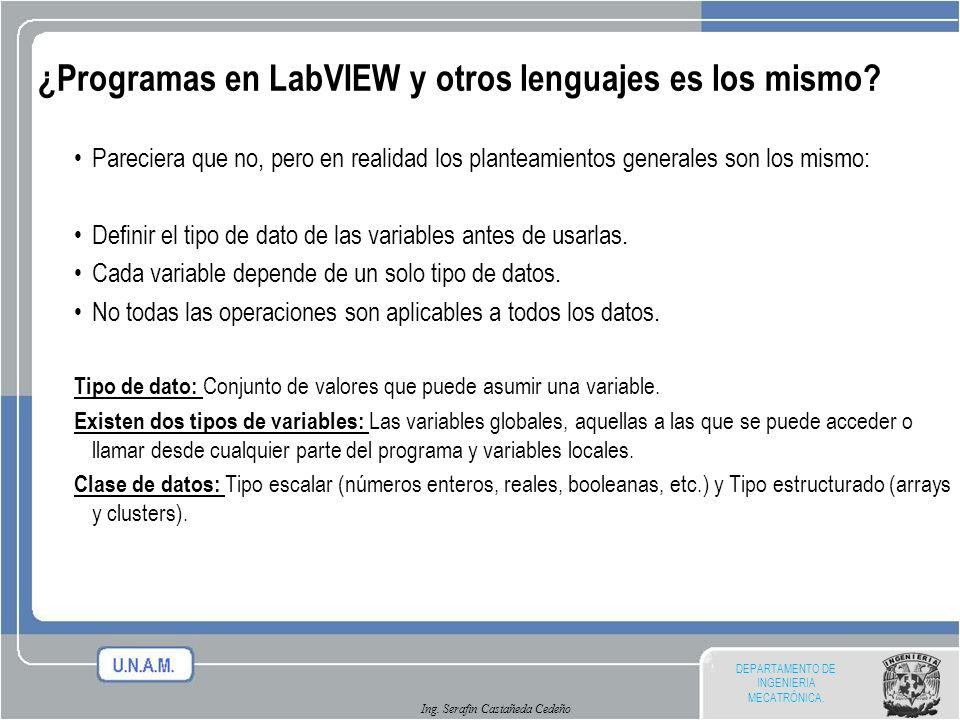 ¿Programas en LabVIEW y otros lenguajes es los mismo