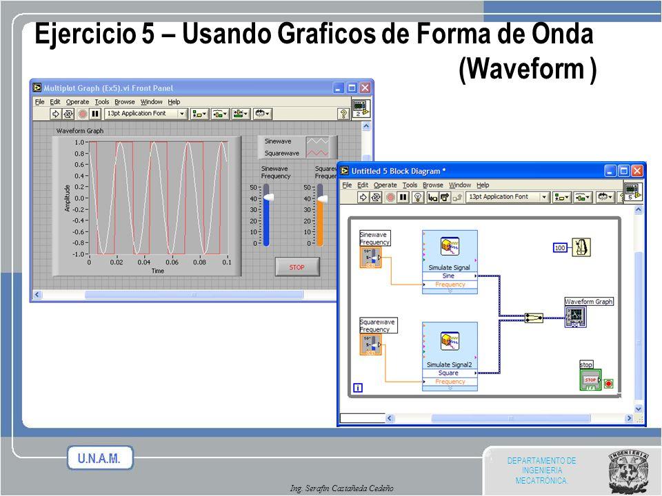 Ejercicio 5 – Usando Graficos de Forma de Onda (Waveform )
