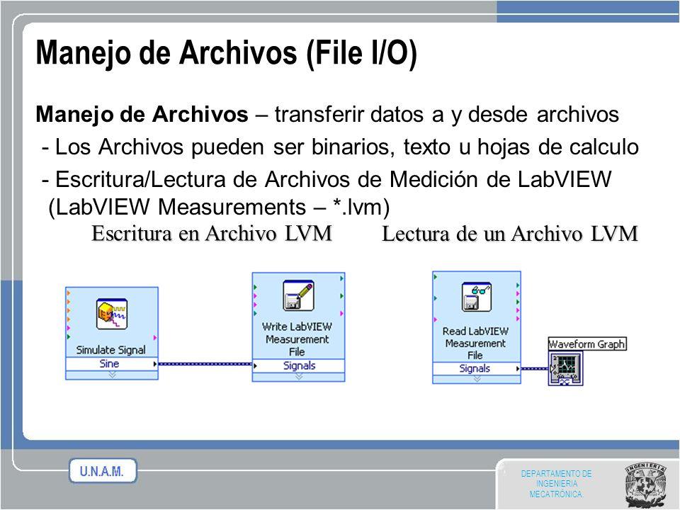 Manejo de Archivos (File I/O)