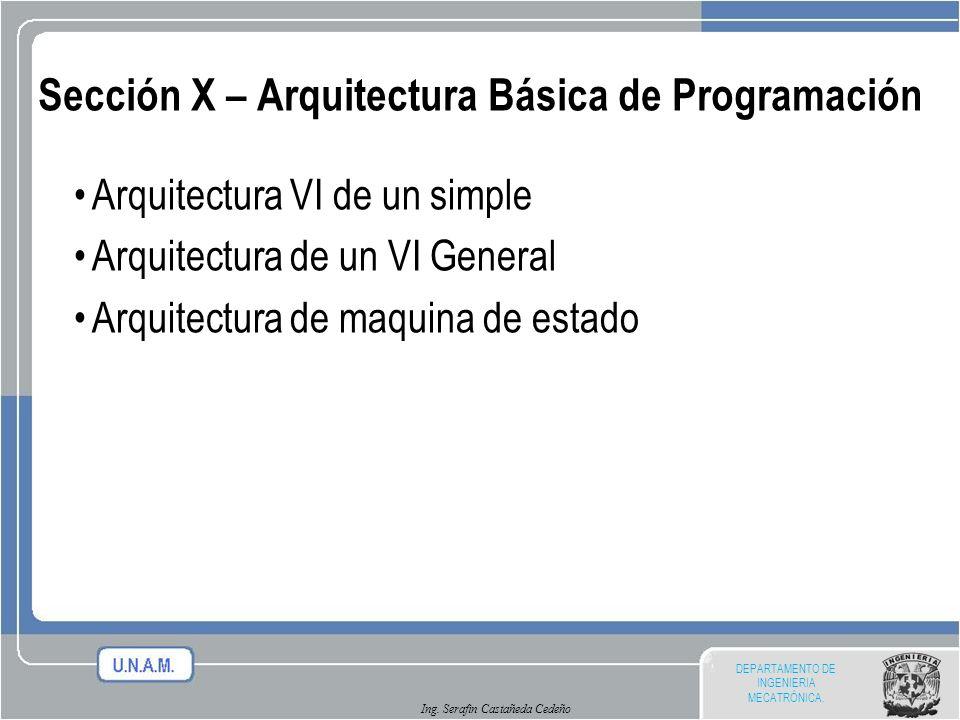 Sección X – Arquitectura Básica de Programación