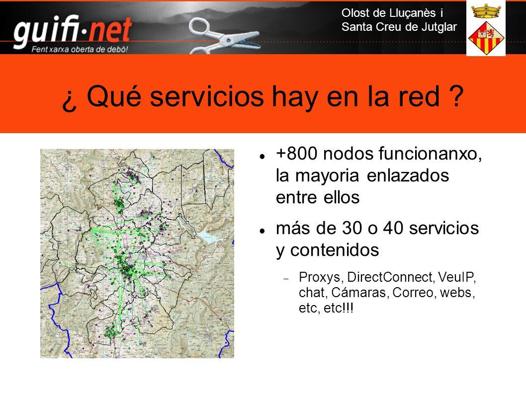 ¿ Qué servicios hay en la red