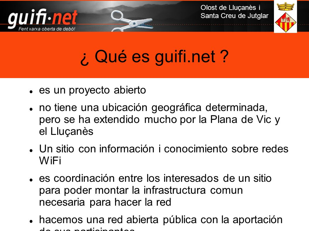 ¿ Qué es guifi.net es un proyecto abierto