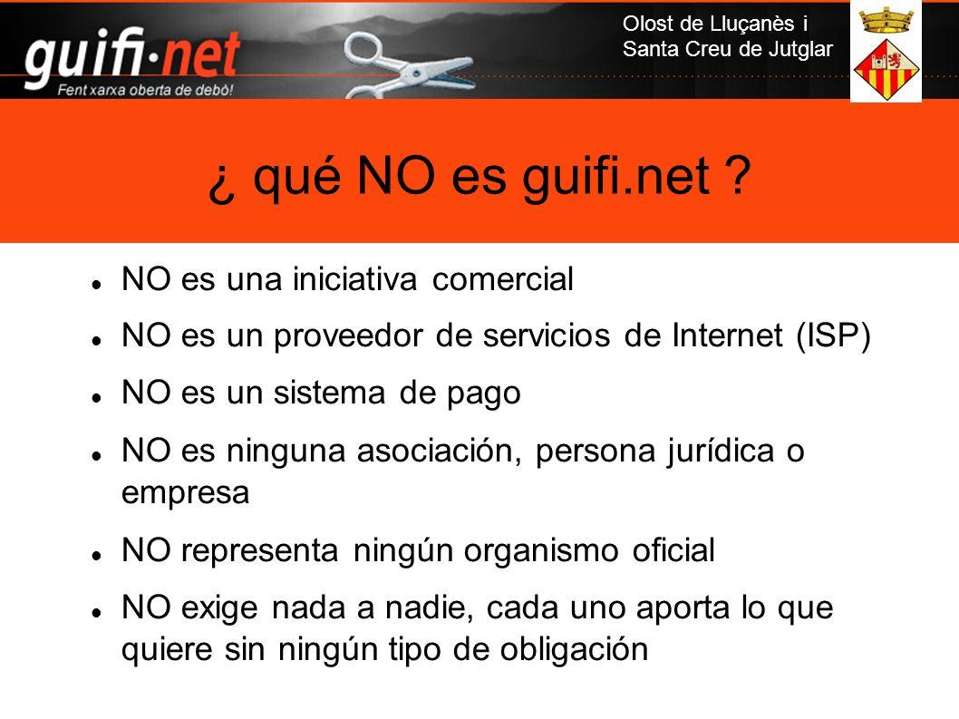 ¿ qué NO es guifi.net NO es una iniciativa comercial