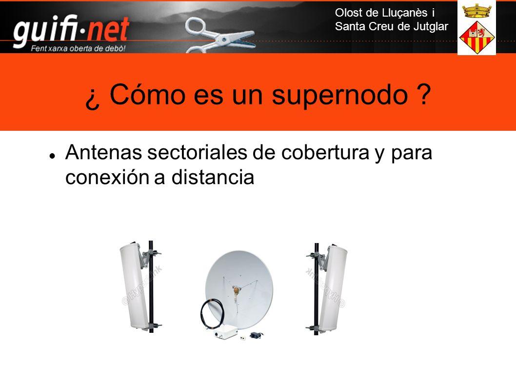 ¿ Cómo es un supernodo Antenas sectoriales de cobertura y para conexión a distancia