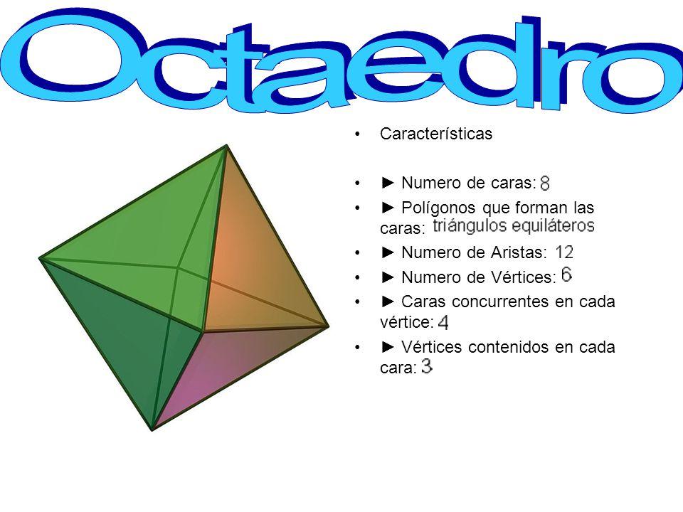 Octaedro Características ► Numero de caras: