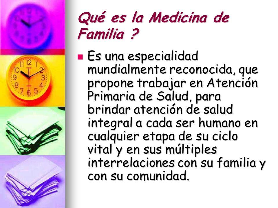 Qué es la Medicina de Familia