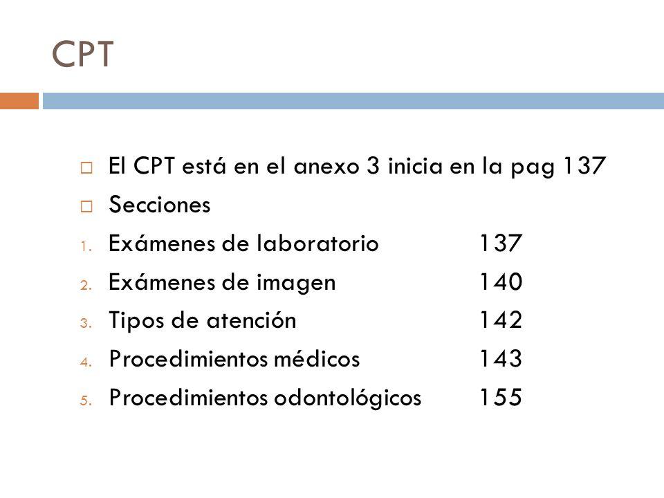CPT El CPT está en el anexo 3 inicia en la pag 137 Secciones