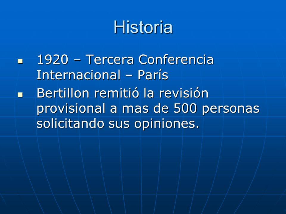 Historia 1920 – Tercera Conferencia Internacional – París