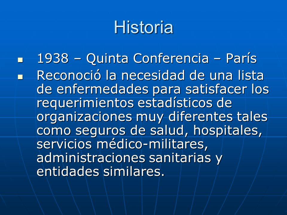 Historia 1938 – Quinta Conferencia – París