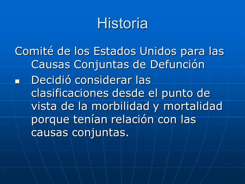 Historia Comité de los Estados Unidos para las Causas Conjuntas de Defunción.