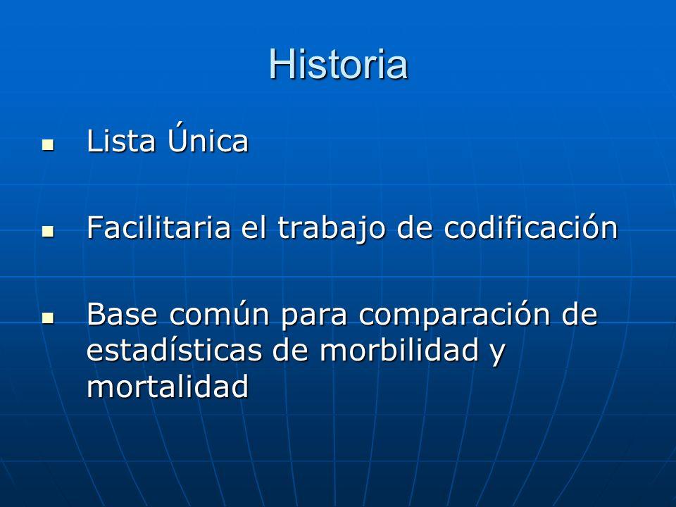 Historia Lista Única Facilitaria el trabajo de codificación