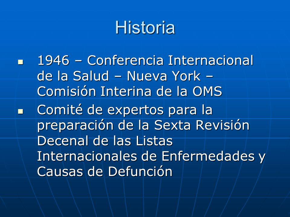 Historia 1946 – Conferencia Internacional de la Salud – Nueva York – Comisión Interina de la OMS.