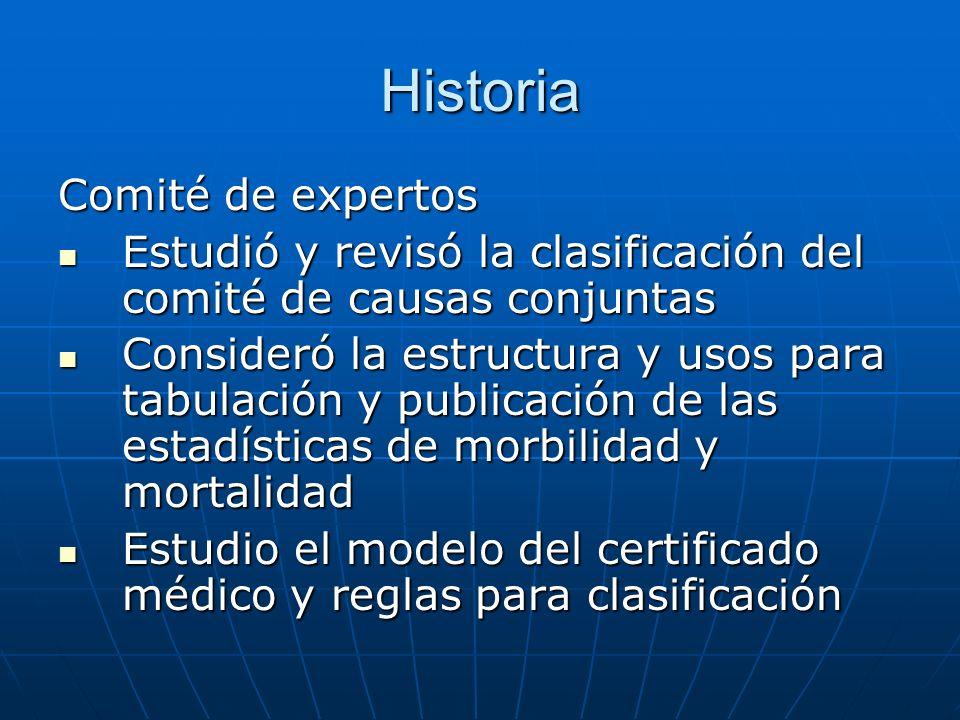 Historia Comité de expertos