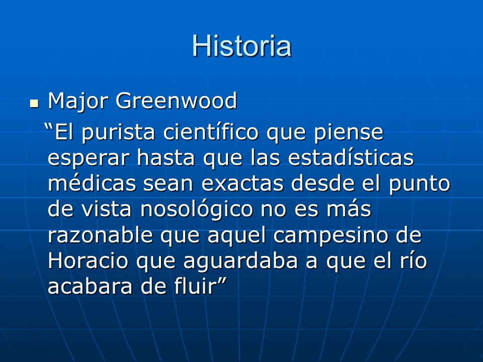 Historia Major Greenwood