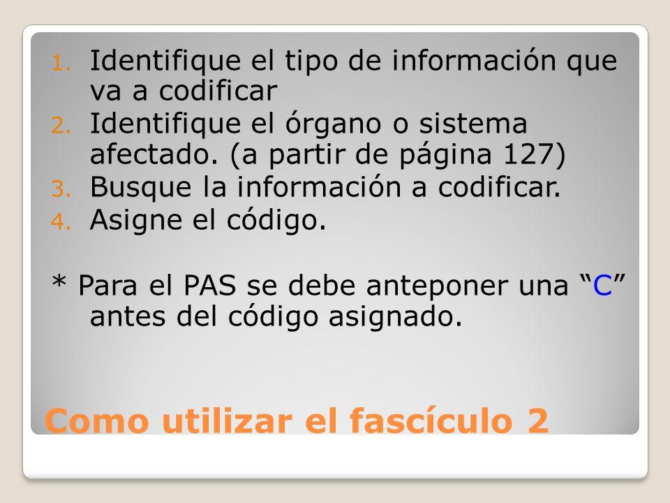 Como utilizar el fascículo 2