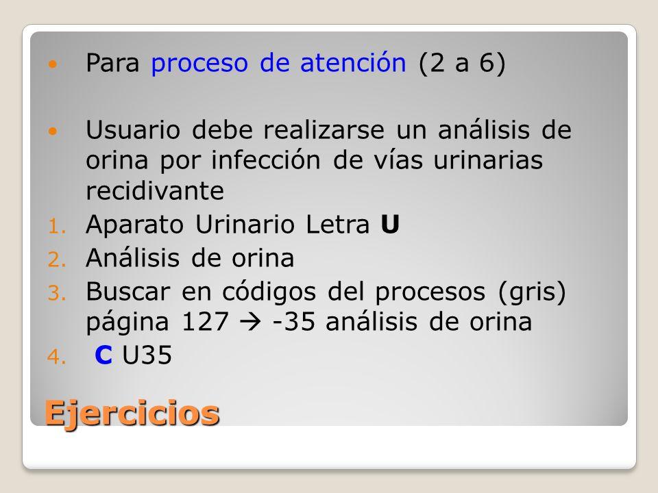Ejercicios Para proceso de atención (2 a 6)