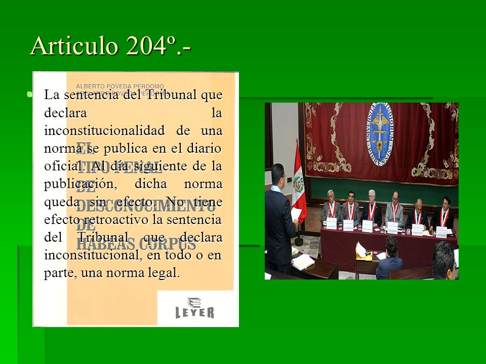 Articulo 204º.-