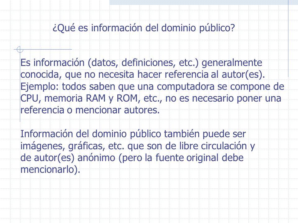 ¿Qué es información del dominio público