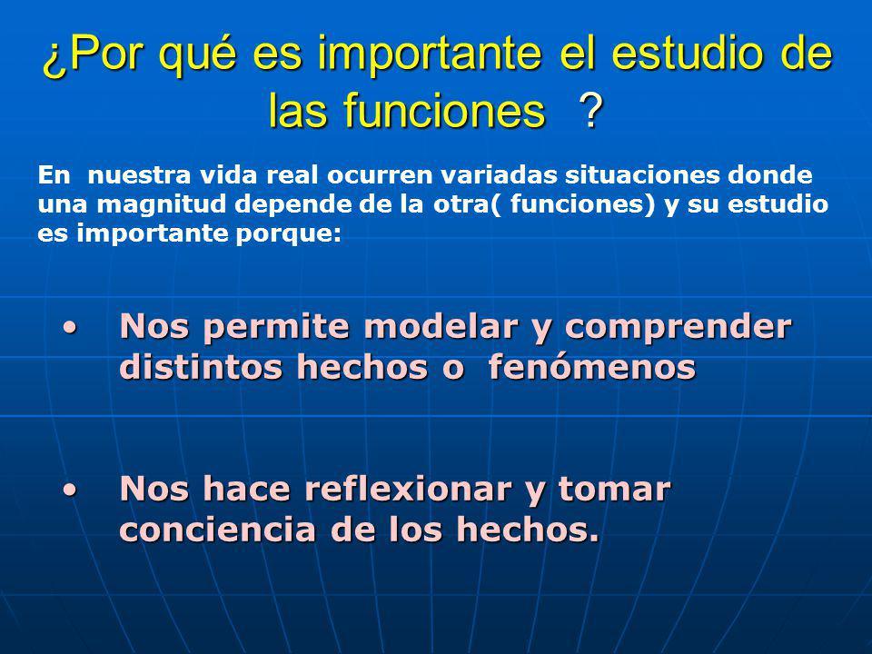¿Por qué es importante el estudio de las funciones