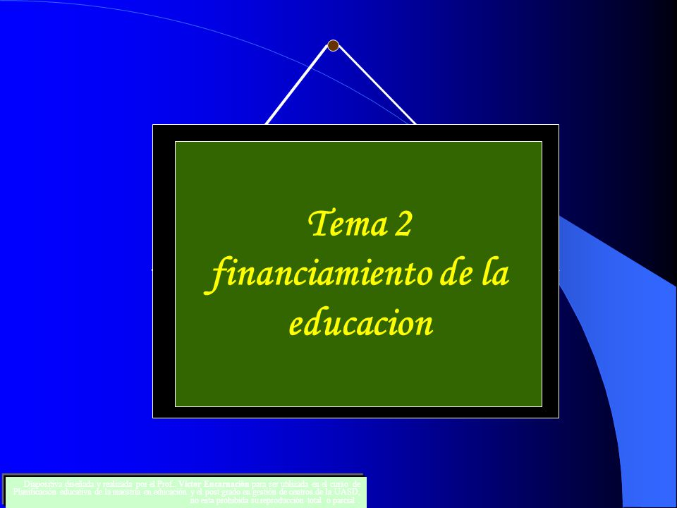 financiamiento de la educacion