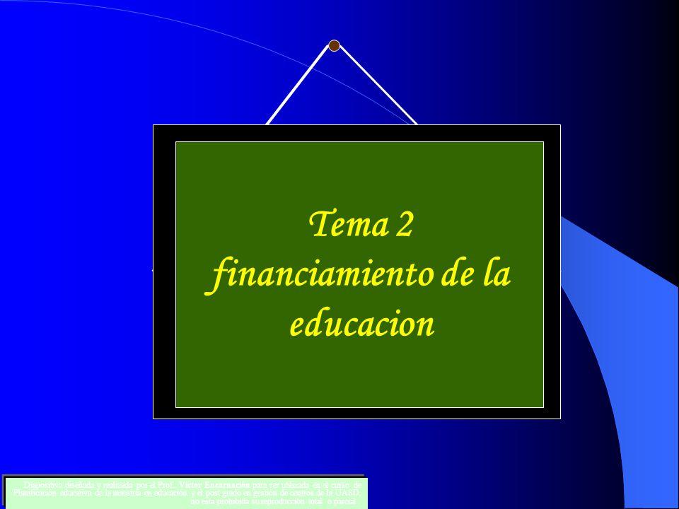 financiamiento de la educacion