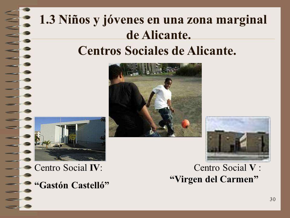 1. 3 Niños y jóvenes en una zona marginal. de Alicante