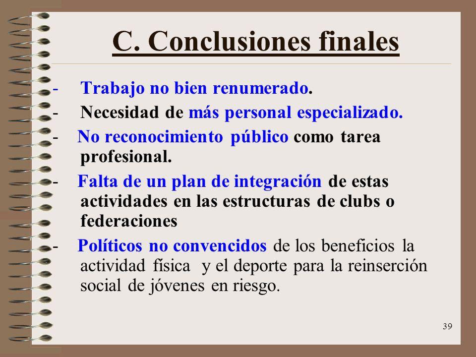 C. Conclusiones finales