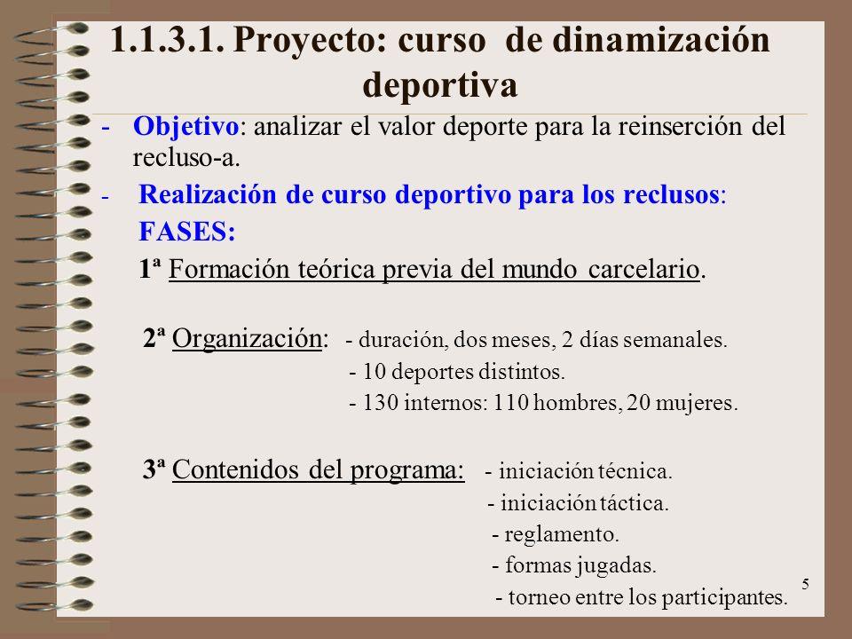 1.1.3.1. Proyecto: curso de dinamización deportiva