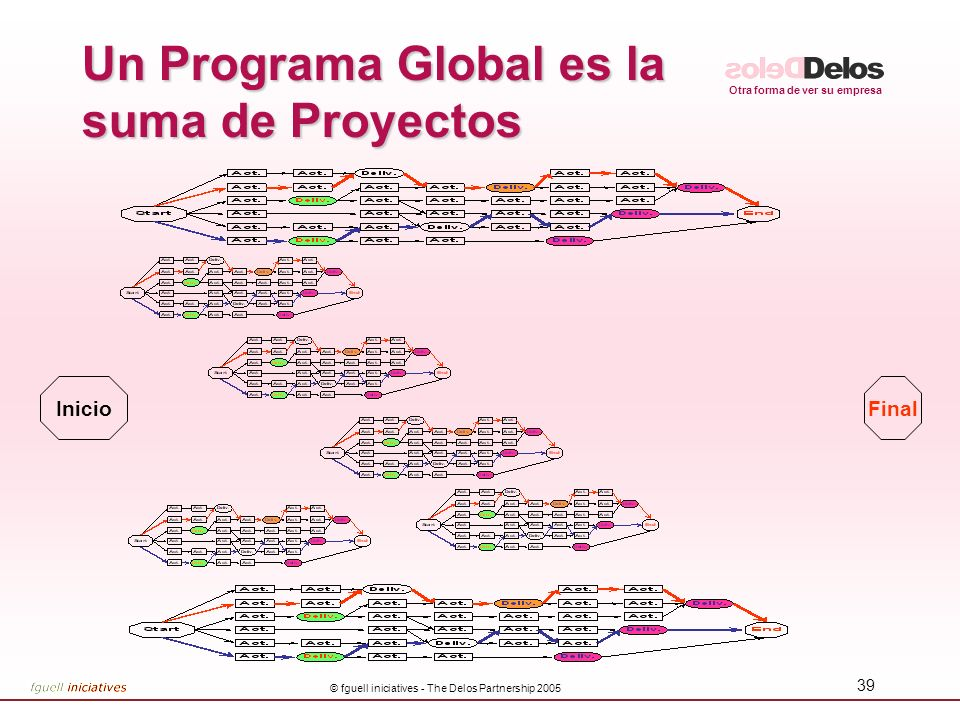Un Programa Global es la suma de Proyectos