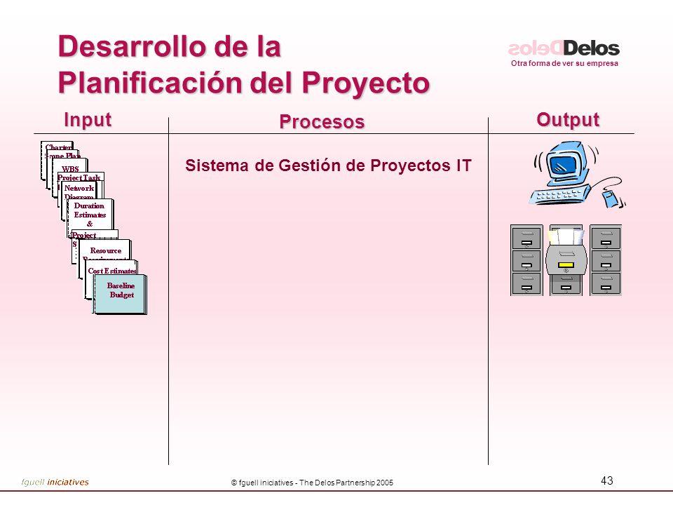 Desarrollo de la Planificación del Proyecto