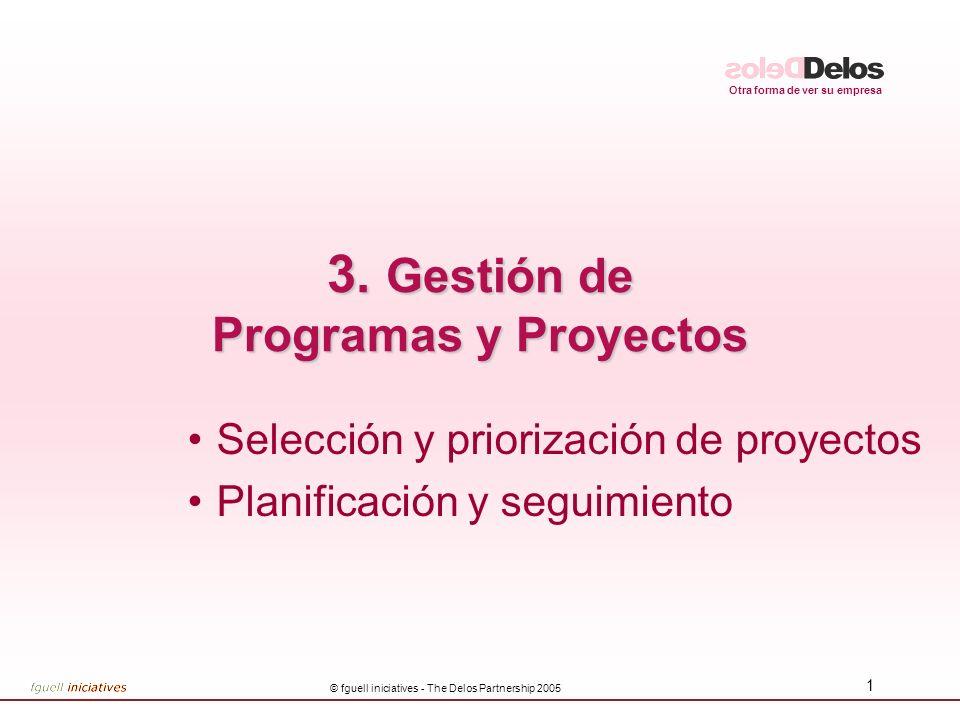 3. Gestión de Programas y Proyectos