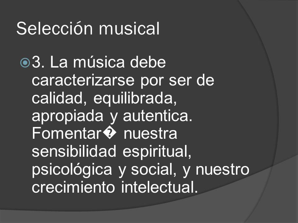 Selección musical