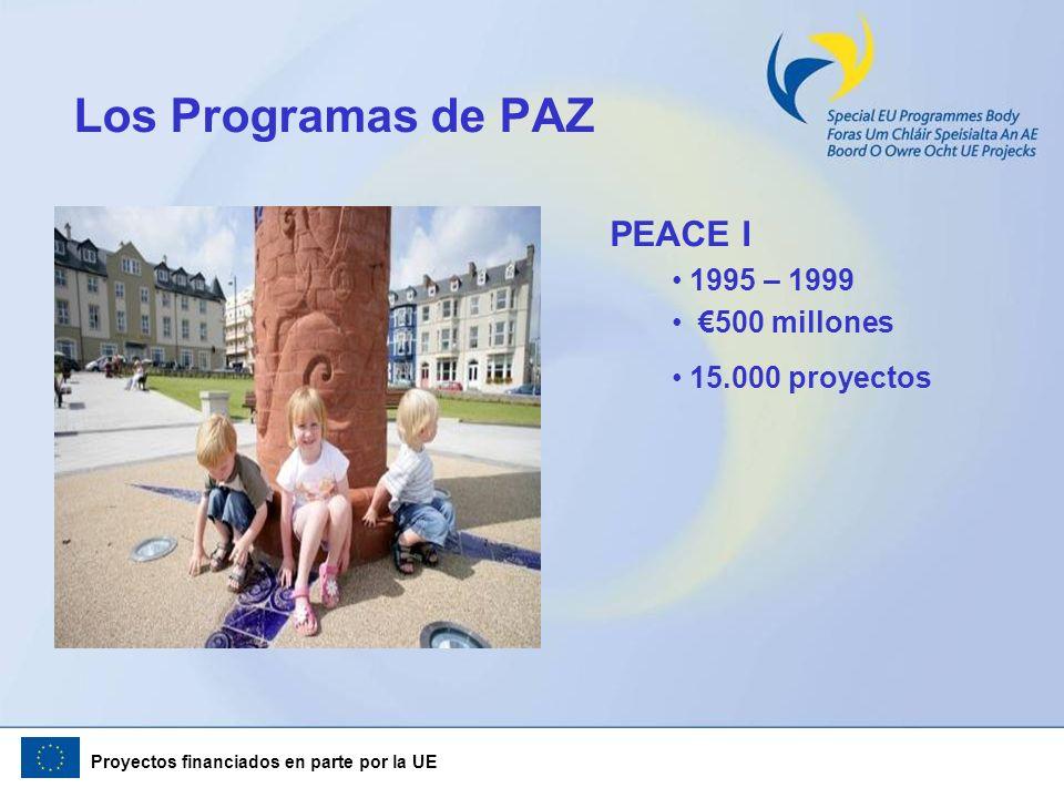 Los Programas de PAZ PEACE I 1995 – 1999 €500 millones