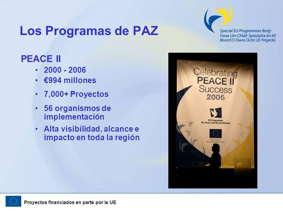 Los Programas de PAZ PEACE II 2000 - 2006 €994 millones
