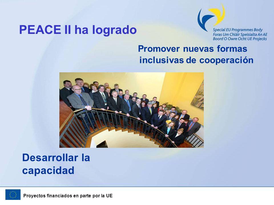 PEACE II ha logrado Promover nuevas formas inclusivas de cooperación